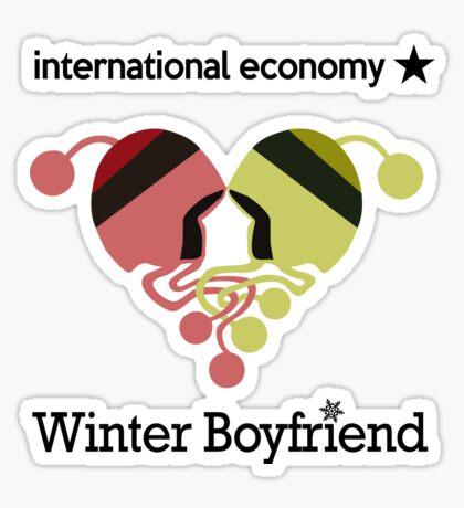 Winter Boyfriend artwork (words) Sticker