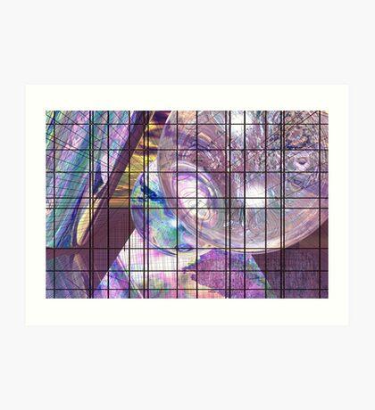 Gridline Worlds Art Print