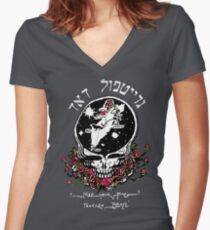 The Dead From Israel for Dark Colors Women's Fitted V-Neck T-Shirt