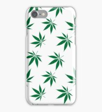 weed pattern large leaf iPhone Case/Skin