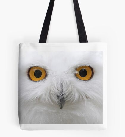 Snowy Eyes - Snowy Owl Tote Bag