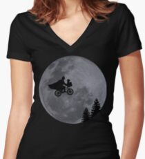 Escaping to the Dark Side Women's Fitted V-Neck T-Shirt