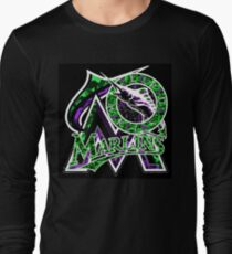 MARLINS BLACK Long Sleeve T-Shirt