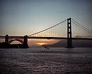 Golden Gate Bridge - Sunset From Torpedo Wharf by Rodney Johnson