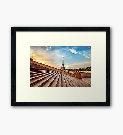 Paris HDR Framed Print