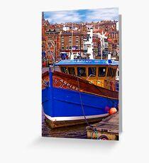 Whitby Fishing Trawler. Greeting Card