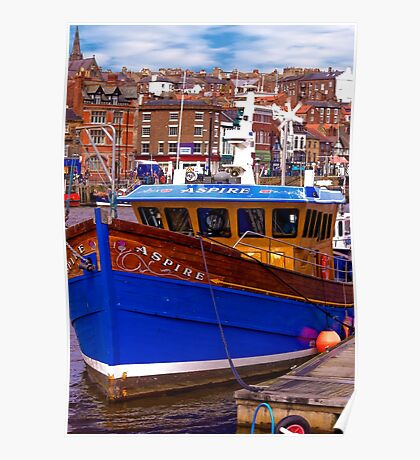 Whitby Fishing Trawler. Poster