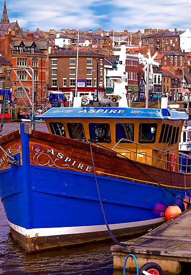 Whitby Fishing Trawler. by Trevor Kersley