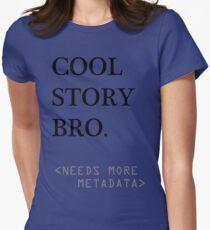 Metadata matters Womens Fitted T-Shirt