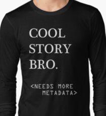 Metadata matters - white Long Sleeve T-Shirt