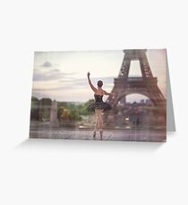 Ballet Dance in Paris Greeting Card