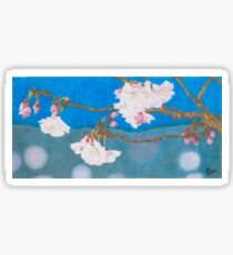 spring blossoms colored pencils drawing Sticker
