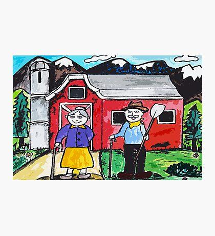 Grandpas Farm Photographic Print