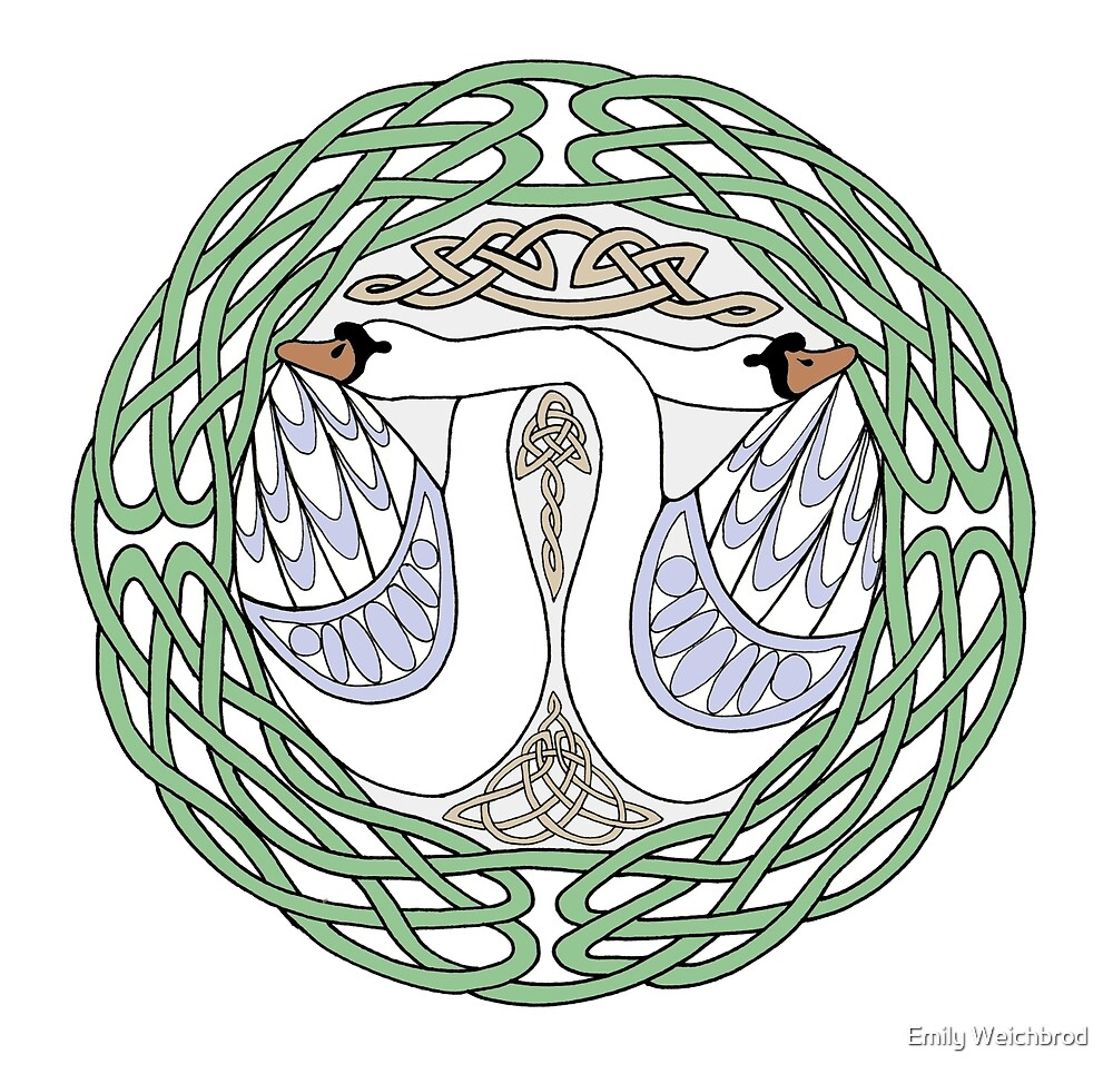 Celtic Swans by Emily Weichbrod