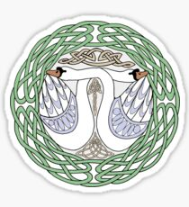 Celtic Swans Sticker