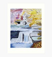 Mill Stream Art Print