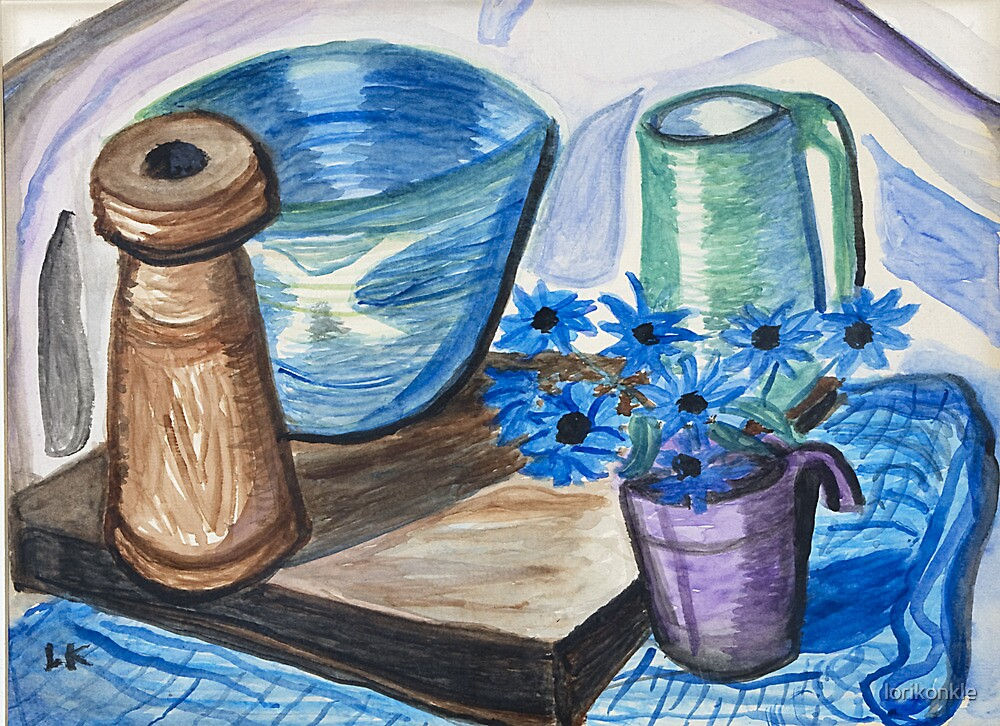 Still Life with Ceramics by lorikonkle