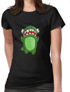 Hungry Dino Womens Fitted T-Shirt