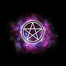 Wiccan Galaxy Pentagram by OpenArtStudio