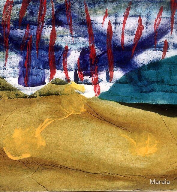 Desert on fire by Maraia