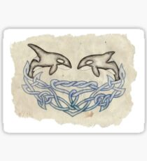 Celtic Orcas Sticker