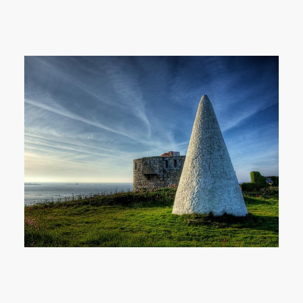 Navigation marker & Fort Tourgis on Alderney Photographic Print