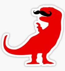 Hipster T-Rex Sticker