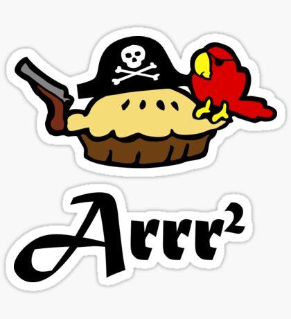 Pie Arrr Squared Sticker