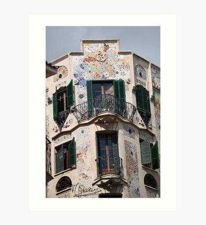 Palma  de  Mallorca:  El  edificio  Forteza  Rey  . Doctor Faustus . 2015. Art Print