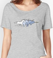 Unicorn Narwhal Evolution Women's Relaxed Fit T-Shirt