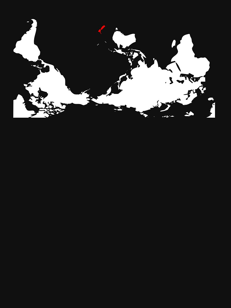 Upside Down World Map Nueva Zelanda de jezkemp