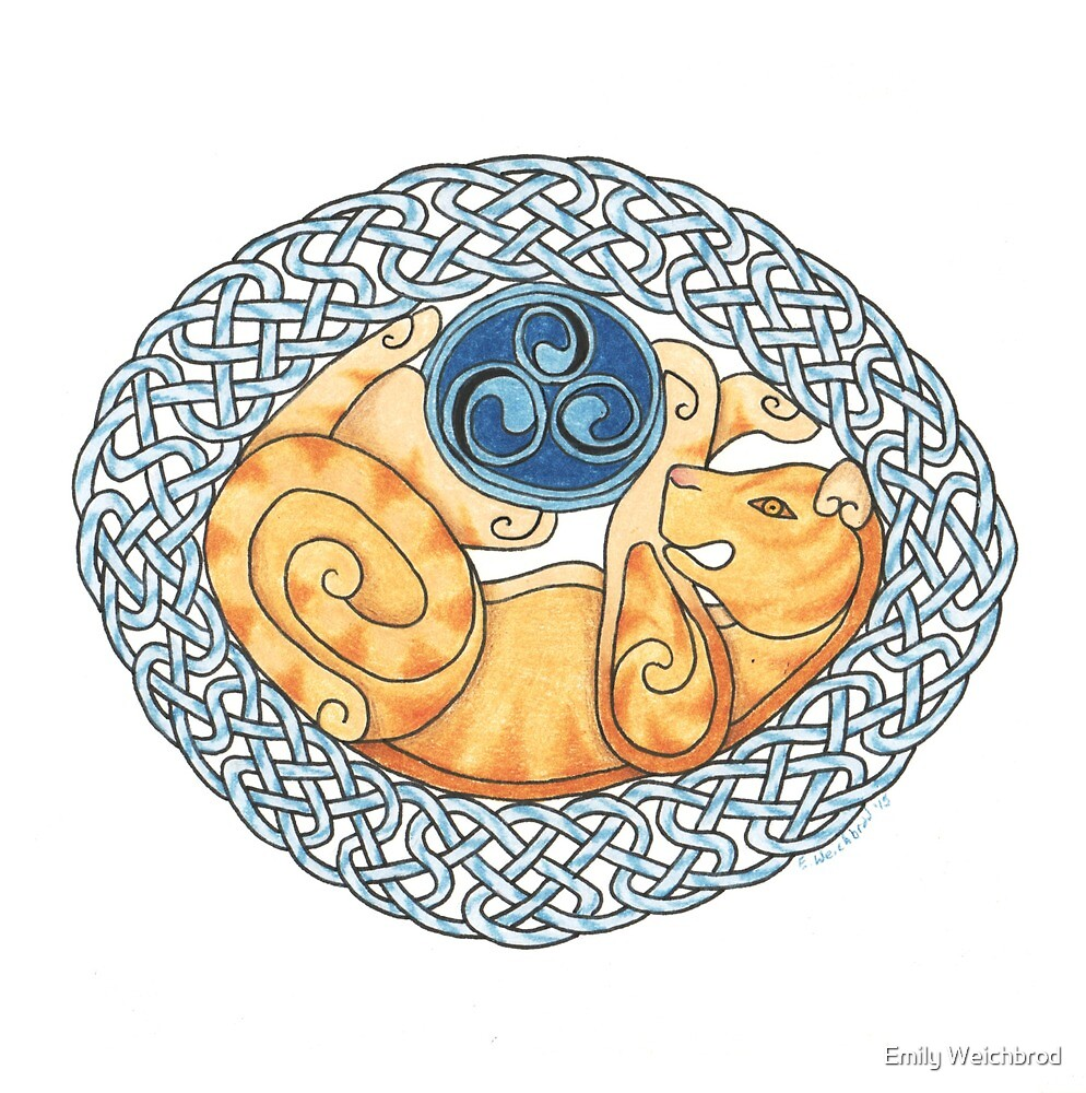 Celtic Cat by Emily Weichbrod