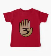 3 Hand Book From Gravity Falls Baby Tee