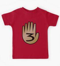 3 Hand Book From Gravity Falls Kids T-Shirt