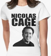 Nicolas Cage Women's Fitted T-Shirt