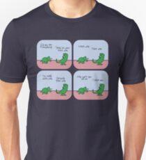 T-Rex Hates geben Richtungen Slim Fit T-Shirt