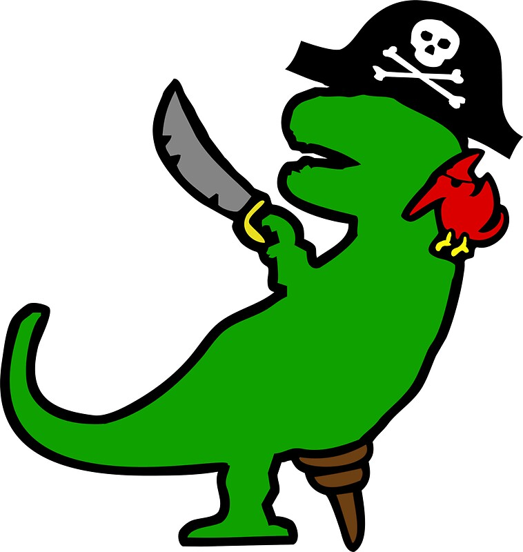 Pirate dinosaur t rex by jezkemp