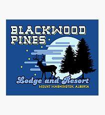 Until Dawn - Blackwood Pines Lodge Photographic Print