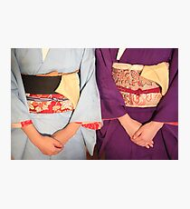 Graceful kimonos Photographic Print