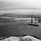 U.S.S. Nimitz - 75th Anniversary of the Golden Gate Bridge by Rodney Johnson