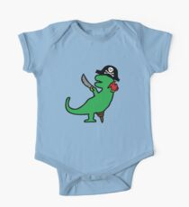 Pirate Dinosaur - T-Rex One Piece - Short Sleeve