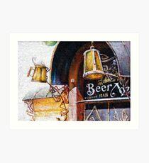 Pub and Beer Art Print