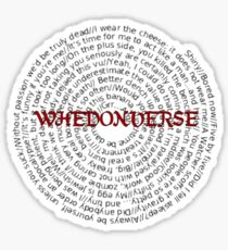 Whedonverse Sticker