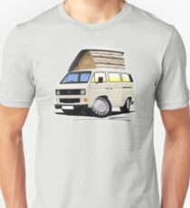 VW T25 / T3 White (Open Pop Top) T-Shirt