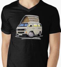 VW T25 / T3 White (Open Pop Top) Mens V-Neck T-Shirt