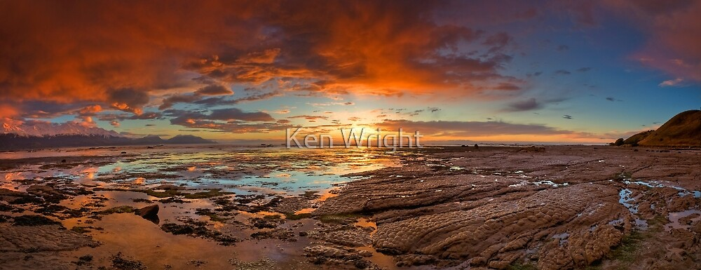 Crocodile skin rocks by Ken Wright