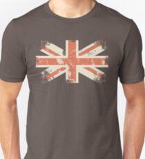 grungy UK flag Slim Fit T-Shirt