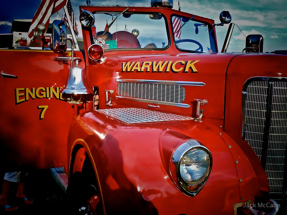 The Big Red Fire Engine 7 - Warwick Rhode Island by Jack McCabe