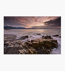 Kaikoura Caromello Rocks Photographic Print