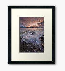 Kaikoura Fantail Wave Framed Print